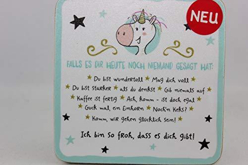 Sheepworld - 45657 - Untersetzer,Ich Bin so froh, Dass es Dich Gibt!, Kork, 9,5cm x 9,5cm