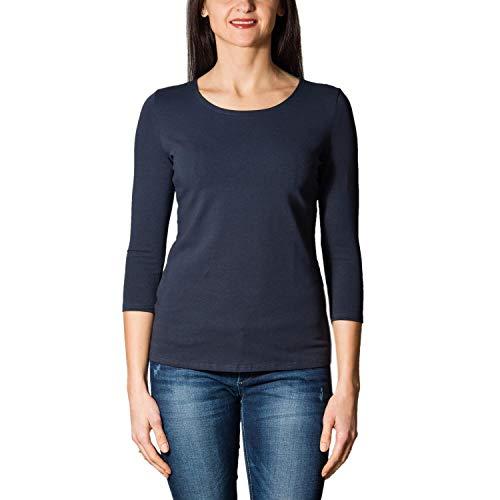 Alkato Damen Shirt 3/4 Arm mit Rundhals, Farbe: Dunkelblau, Größe: XXL
