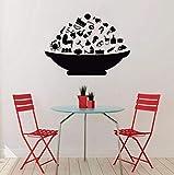 Qbbes Fashion Bowl With Food Adesivi Murali Cucina Decorazioni Da Parete Sala Da Pranzo Sfondi Carta Da ParatiAutoadesiva Adesivo Da Cucina 42X59Cm