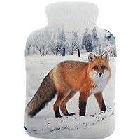Snugg Animal Photo Print Plush Fleece Microwaveable Lavender Wheat Pack Standing Fox