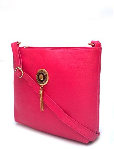 Vintage Stylish Ladies Sling Bag- Cross Body Bag Pink(bag L9251)