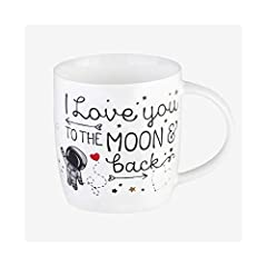 Idea Regalo - Legami Aphorism Buongiorno Mug i Love You To The Moon & Back, Bone China, Multicolore, 9x9x8 cm