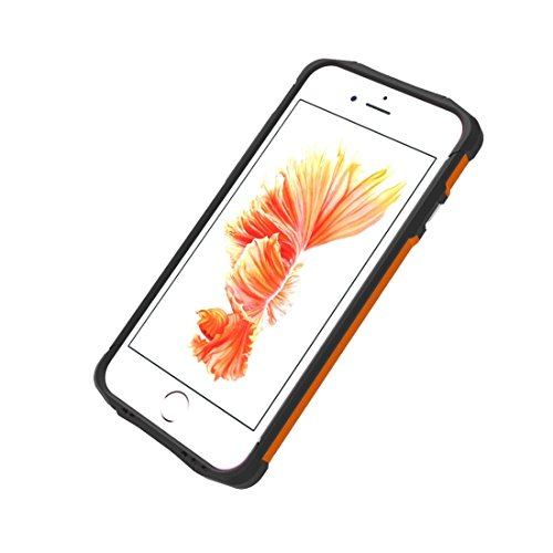 Phone Case & Hülle Für iPhone 6 Plus und 6s Plus TPU + PC Stahl Rüstungskoffer ( Color : White ) Orange