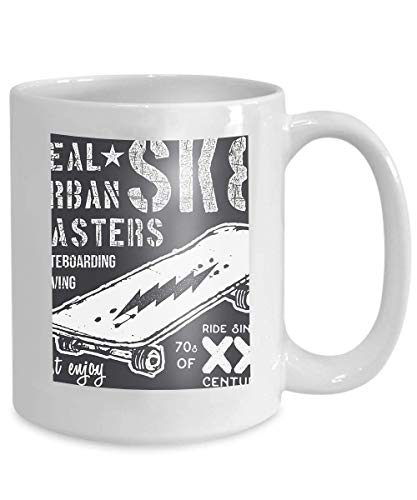 Mug Coffee Tea Cup Typography Design Skateboard Printing Typographic Skateboarding Urban Skaters Graphic desi 110z