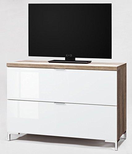 CS Schmalmöbel 45.150.505/017 TV-Board Cleo Typ 13, 109 x 50 x 76 cm, wildeiche / weißglas - 2