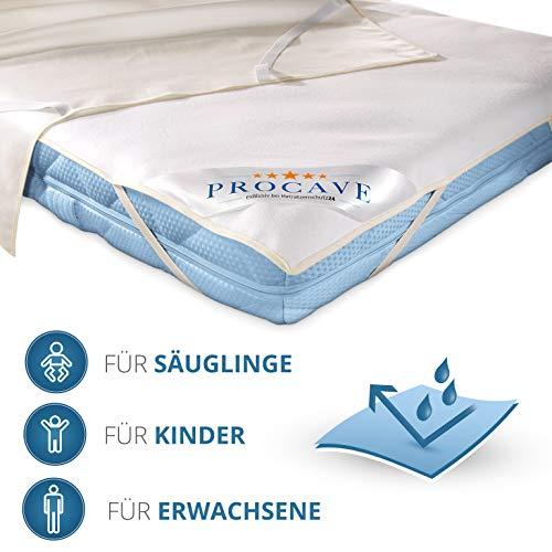 PROCAVE wasserundurchlässige Matratzenauflage in verschiedenen Größen – Made in Germany | Matratzenschoner wasserdicht 60×120 cm | Kopfkissenschoner - 5