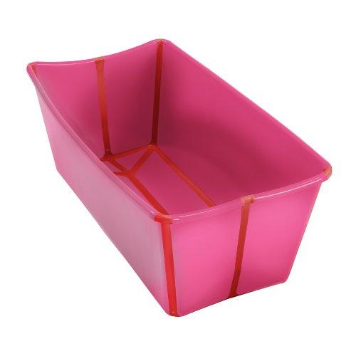 A Real Cool World 403 - FlexiBath Vaschetta da bagno pieghevole, colore: Rosa/Rosso
