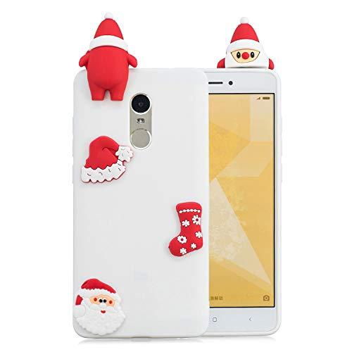 Klassikaline® Xiaomi Redmi Note 4 Silikon Hülle, Xiaomi Redmi Note 4 Silikon Schutzhülle Cover Case Handy Hülle [ Weihnachtsserie ] - SZ06