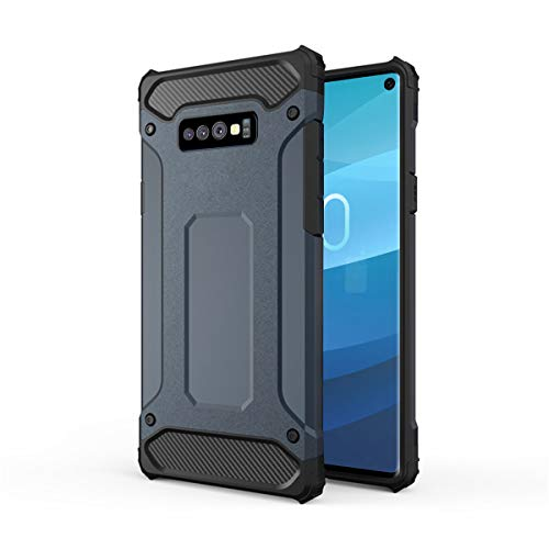 Forhouse Hülle Durable Protective Case Hülle, Thin Anti-Scratch Skin Back Hülle Full Cover für Samsung Galaxy S10 Lite - Dark Blue