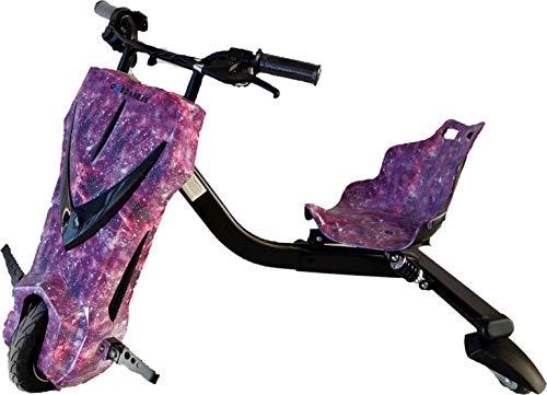 Oviboard Triciclo Derrapador Eléctrico para Niños, 3 Velocidades, Bluetooth y Luces LED
