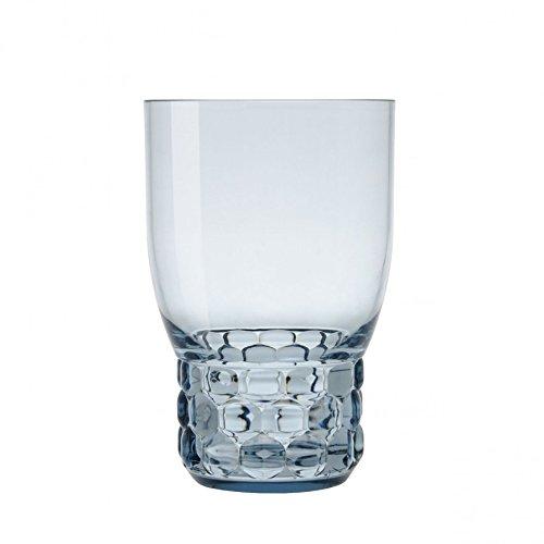 Kartell JELLIES FAMILY verre eau lot de 4, azur