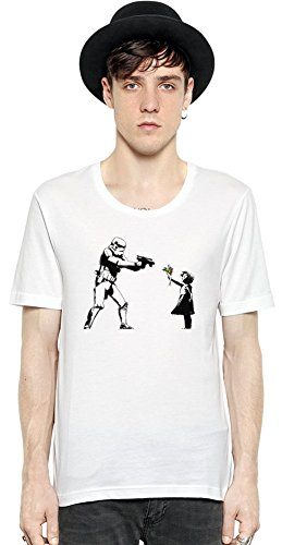 Banksy Star Wars And Little Girl Short Sleeve Mens T-shirt XX-Large -