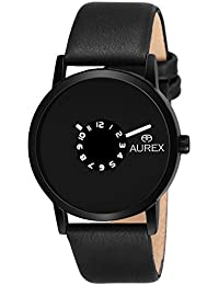 Aurex Analouge Blue Dial Watch Water Resistant Black Color Strap Watches For Mens/Boys (AX-GR152-BLB)