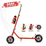 Dash 2 Wheel Power Ranger Red Scooter for Kids with Sipper, Bell n