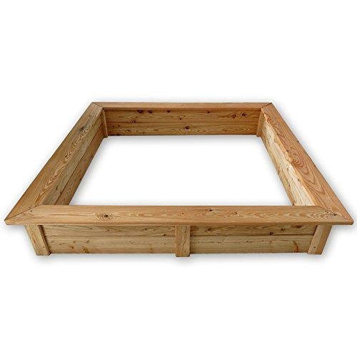 Gartenpirat Sandkasten 150×150 cm aus Holz 21 mm Lärchenholz wetterfest