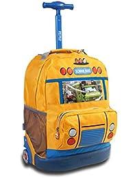 Preisvergleich für QCC& Hohe Kapazität Trolley Schultaschen Multifunktion Wasserdicht Fahrbar Rollen Gepäck Rucksack Zum Jungen Mädchen...