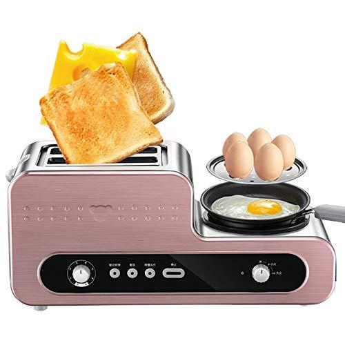 Kylinkkx Toaster 2-Scheiben-Toaster Edelstahl mit herausnehmbarem Krümelblech Toasten Sie schnell Brot & Bagel mit Bratpfanne