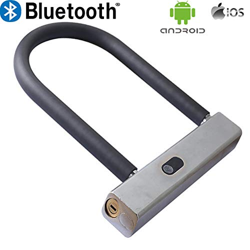 WiseLime Smart - Candado de Seguridad para Bicicleta (Bluetooth, antir