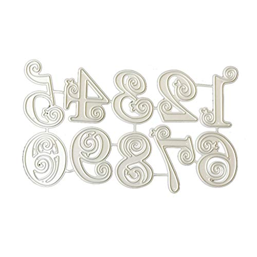 Ruda Stanzschablone Zahlen Metall DIY Scrapbooking Prägung Papier Karten Dekoration