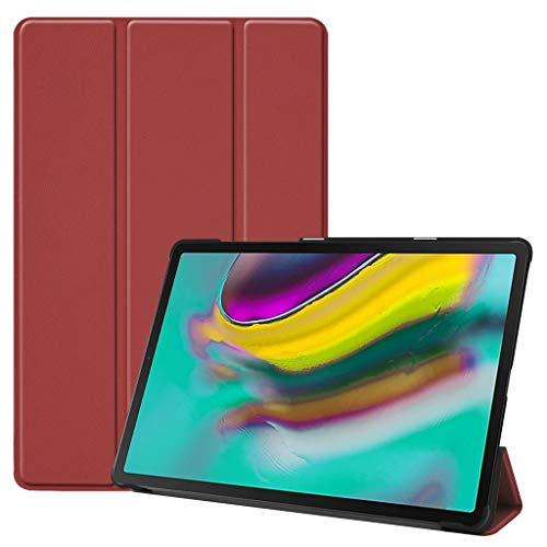 jfhrfged Für Samsung Galaxy Tab S5e 10.5 2019 T720 T725 Smart Magnetic Ledertasche (Wein) (Galaxy Tab Tablet Skinomi)