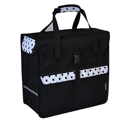 C-BAGS BOX POLKA DOTS Gepäckträger Fahrradtasche Tasche verschiedene Muster white-black