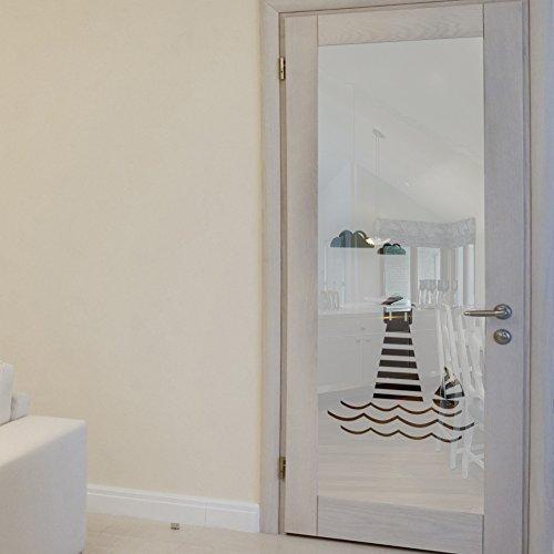 wandkings milchglasfolie leuchtturm motiv 199 x 61 cm h x b f r fenster glast ren duschen. Black Bedroom Furniture Sets. Home Design Ideas