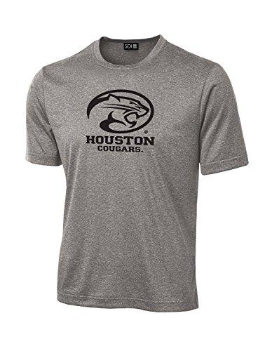 NCAA Schule Standard Maskottchen Tech Performance T-Shirt, Grau - Sport Grey