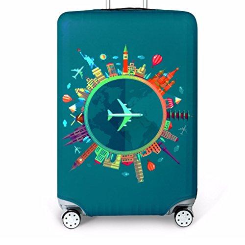 Bestja Elástico Funda Protectora de Maleta Luggage Protective Cover, Lavabile viaje equipaje cubierta Carretilla caso protectora cubierta cabe 18-32 pulgadas equipaje (Viaggio, XL)