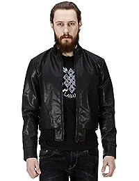 B&B Collection men's Black PU Leather Jacket By Bareskin