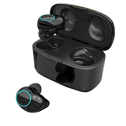 DingLong T3 Wireless Bluetooth 5.0 Hi-Fi Sound Wasserdichte Kopfhörer,Sport in Ear Ohrhörer Freisprecheinrichtung mit Ladebox Eingebautes Mikrofon