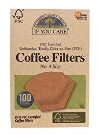 If You Care Coffee Filters No. 4 Unbleached 100 s Large