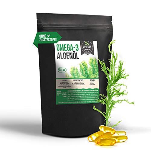 75 Mg 100 Kapseln (Omega-3 Algenöl | DHA 150mg EPA 75mg | 60 Kapseln 500mg | pflanzlich statt Fischöl - hohe Dosierung | 100% vegan [veg. HPMC Kapselhülle] und in Deutschland abgefüllt)
