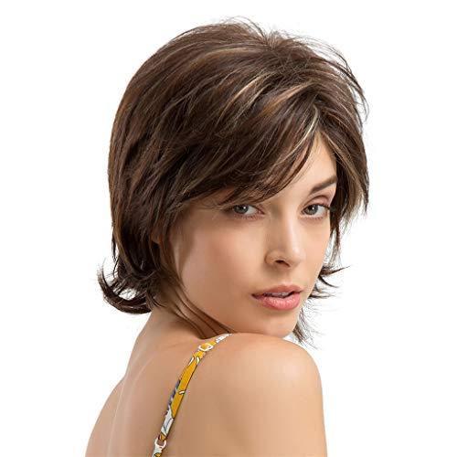 Malloom Perücke Damen Kurzes lockiges Haar BOBO Kopf Mode Persönlichkeit kurzes Lockiges Haar Glattes Perücken -