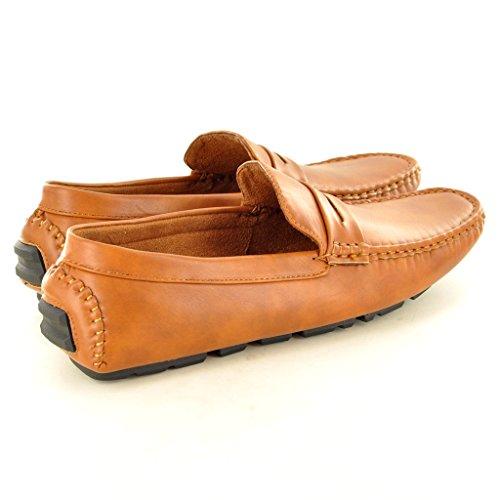 Décontractés Marron Pour Uomo Casual Mocassins Per De Chaussures Marrone Pu Hanno Conduite Scarpe Mocassini Da Homme Guida pdz4qWT