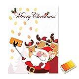 Weihnachten Weihnachtsmann Gästebuch Personalisierte Party Geschenke Fingerabdruck Malerei DIY Partydekorationen für Wohnzimmer - Gelb