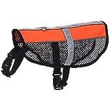 Süß Pet Tuch weich und atmungsaktiv wasserdicht Hund Weste elastische Brustumfang Kühlung Sommer Shirt reflektierende Safe, Orange, S