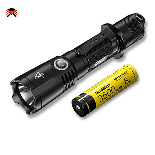 Nitecore MH25GTS USB Wiederaufladbare Taschenlampe 1800 Lumen LED Taktische Taschenlampe IPX8 Wasserdicht 8 Modi ([ mit Aufladbarer Batterie ])