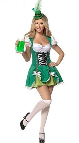 Aimerfeel Damen irisches bier Magd Kostüm Kostüm Größe (Bier Kostüme Halloween Maid)