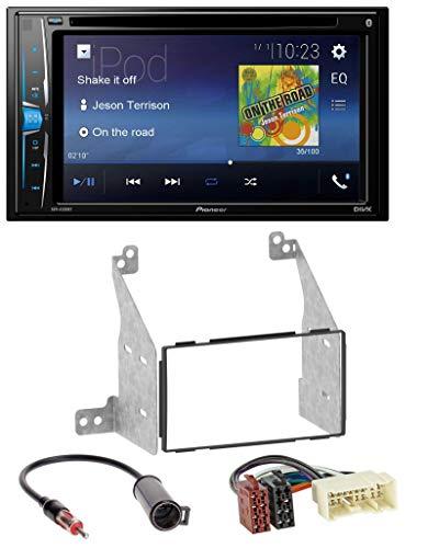caraudio24 Pioneer AVH-A200BT USB DVD 2DIN Bluetooth CD MP3 Autoradio für Nissan Pathfinder (04-07) Nissan Ipod