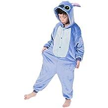 JunYito Pijama Animale Niños Niña Adulto Mujer Invierno Kigurumi Unicornio Disfraz Cosplay Halloween y Navidad