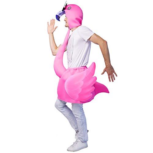 Haar Kostüm Rosa - SEA HARE Flamingo Kostüm für Erwachsene (Einheitsgröße) (Rosa)