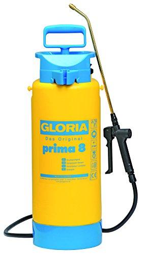 GLORIA Prima 8 Drucksprühgerät inkl. Messingdüse, Restmengenentleerung u. Fußring