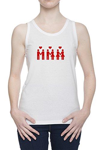 Amore Uguale Donna Bianco Canotta T-shirt Tutte Le Taglie | Women's White Tank T-Shirt Vest Top