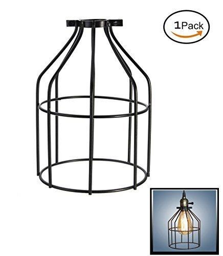 Eisen Draht Leuchtmittel Käfig, nicwhite Industrie Vintage Lampe Halter, Anhänger Kabel, Lampe/Guard Käfig Lampenschirme, Klemme auf Lampe Guard, Pack of One, 7.4
