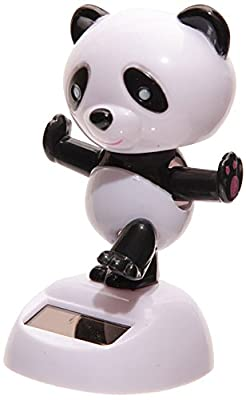 Puckator FF35 Solar-Powered Panda Ornament 6 x 5.5 x 9 cm