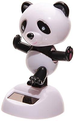 Puckator FF35 Solar-Powered Panda Ornament 6 x 5.5 x 9cm
