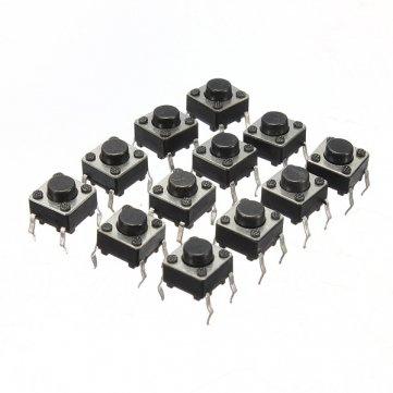 100pcs Mini Micro momentanée tactile Tact commutateur à bouton-poussoir DIP P4