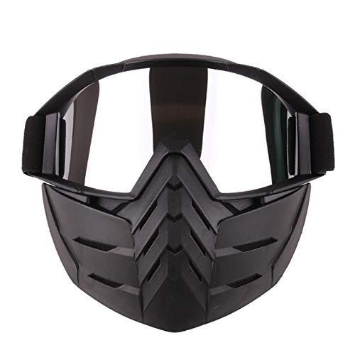 Blisfille Polarisierte Sportbrille Schutzbrillen Maskieren Motorradbrillen Im Freien Winddichte Schutzbrillen Für Outdoor Sportgeräte Silver Damen Herren
