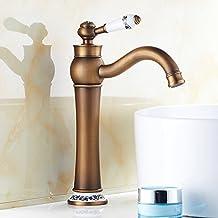 baño de cobre del grifo del lavabo de porcelana fría y caliente/Dorada grifo antiguo-G