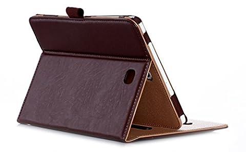 ProCase Schutzhülle Samsung Galaxy Tab S2 8.0 Kunstleder Schutz Ständer Hülle für 2015 Galaxy Tab S2 Tablet (8.0 inch, SM-T710 T715), mit Mehreren Blickwinkeln, Schlaf/Wach Funktion, Dokument Karte Tasche (Braun)